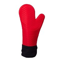 Heat Resistant Insulated Silicone Oven Glove with Liner/ Pot Holder / Grill Mitt with Extended...