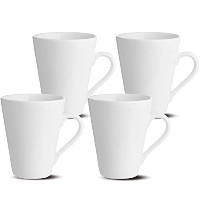 Oxford Gourmet Mugs (Set of 4), White by Oxford