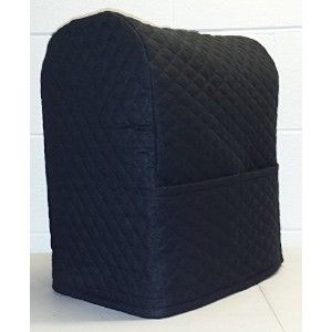 Quilted Cover for Kitchenaid 7 Quart Lift Bowl Stand Mixer (Black) by Penny's Needful Things