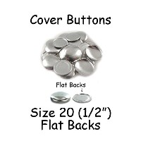 Cover Buttons - 1/2 (SIZE 20) - FLAT BACKS - QTY 75 by I Craft for Less