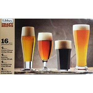 Libbey 16 Piece Craft Brew Beer Set by Libbey