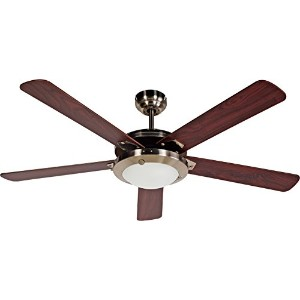 Design House 154336 Eastport Ceiling Fan Light, 52, Satin Nickel by Design House