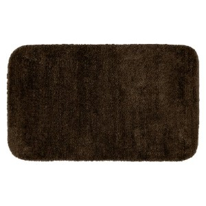 Garland Rug DEC-3050-14 Traditional 30 in. x 50 in. Plush Washable Nylon Rug Chocolate