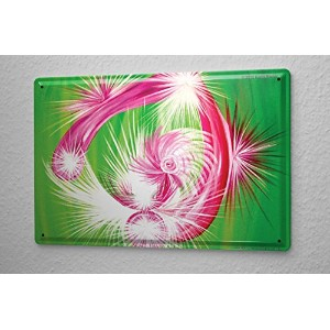 Tin Sign ブリキ看板 Esoteric Karin Riener energy image Open your heart! Let yourself be