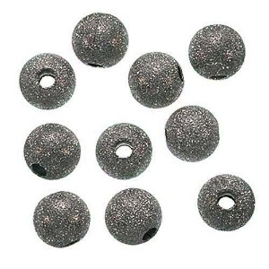 Stardust Sparkle Round Beads, 10mm, Gunmetal Plated by Beadaholique