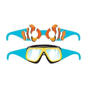 OCEAN PARTY WEARABLE GLASSES PAPER