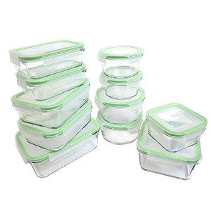 Kinetic 55043 22 Piece Glassworks Series Food Storage Container Set, Clear by Kinetic
