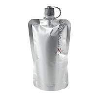 The Original Disposable Flask - Silver - Set of 3 plus Funnel by Original Disposable Flask