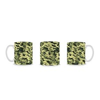 Green Leaf Camouflage (Camo) Army マグカップ
