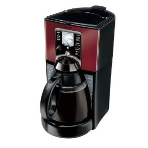 Mr. Coffee FTX49 12-Cup Programmable Coffeemaker, Black/Red [並行輸入品]