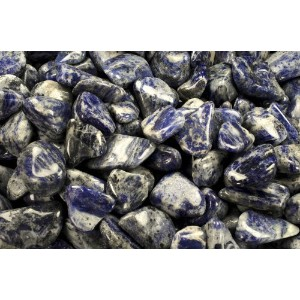 Sodalite – 100 % Natural Undyed Tumbled Stones – 1ポンド