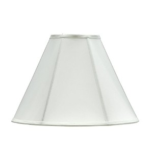 Aspen Creative 35005 Hexagon Bell Spider Lamp Shade with Vertical Piping, Off White by Aspen...
