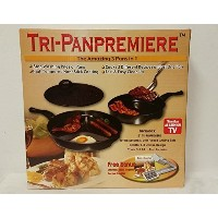 Tri-Pan Premier, 3 Pans in 1, Multi Tasking in 1 Pan! Non-Stick Coating, Includes: 12 - 3 Section...