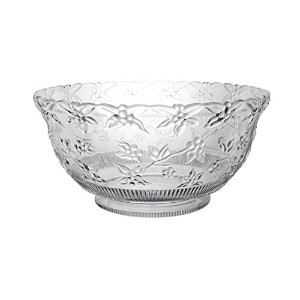 Party Essentials N345886 Hard Plastic 8-Quart Embossed Punch Bowl, Clear by Party Essentials