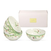 Japanese Kitchen Collection Essentials 5 piece ceramic Rice Bowl features Flower and Fruit design...