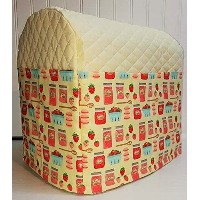 Quilted Strawberries & Jam Kitchenaid Tilt Head Stand Mixer Cover (Cream) by Penny's Needful Things