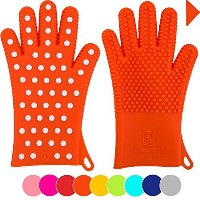 New For Fall: Heavy-Duty Women's Silicone Oven Mitts   Designed in Italy For Her, 2 Sizes Available...