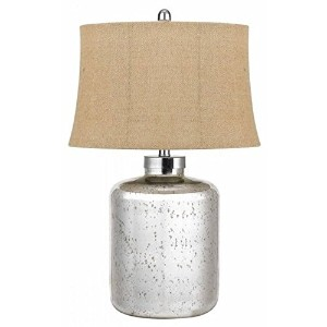 Cal Lighting Antique Mirror Glass Table Lamp, 26.5 by Cal