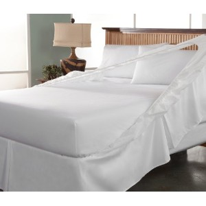 Perfect Fit Easy on Easy Off Bed Skirt and Box Spring Protector, King, White by Perfect Fit [並行輸入品]