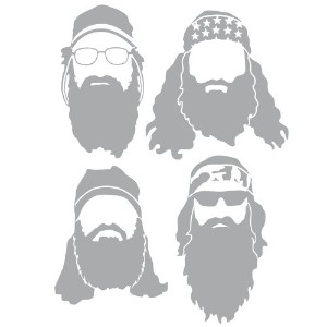 Duck Dynasty Robertson's Light Gray Silhouette Car and Truck Decal by Signature Products Group
