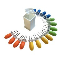 Butter Your Corn Set with Jumbo Corn Cob Holders (For 8) and Norpro Butter Spreader by Norpro