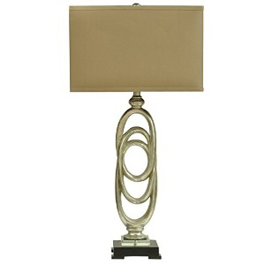Crestview Collection Rings Resin and Wood Table Lamp by Crestview Collection