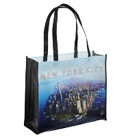 NYC Downtown Photo Reusable Shopping Tote Bag - New York Downtown by Universal Souvenir