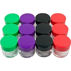 Stalwart 75 – 0268 12 Piece Storage Jars with Colored Lids、20 ml、クリア
