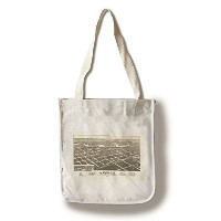 Flandreau , South Dakota – パノラマMap Canvas Tote Bag LANT-8971-TT