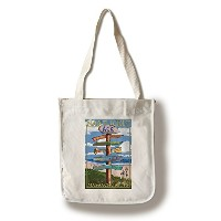 ナンタケット島 – Sign Destinations Canvas Tote Bag LANT-40904-TT