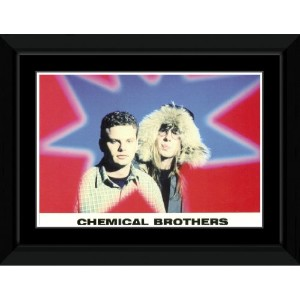 Chemical Brothers - Star Framed Mini Poster - 14.7x10.2cm