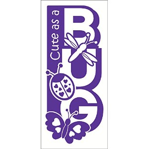 Wall Decor Plus More WDPM2654 Cute As A Bug Wall Sticker, 23-Inch x 10-Inch, Purple [並行輸入品]