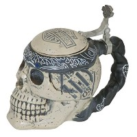 Harley-Davidson Bar & Shield Sculpted Ceramic Skull Stein, 24 oz. HDL-18606 by Harley-Davidson