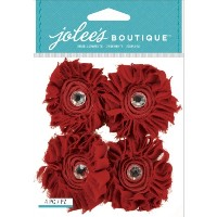 Jolee's Boutique Dimensional Stickers-Maroon Large Florals (並行輸入品)