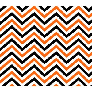 Springs Creative - Fabric 47236-B778315 Halloween Chevron Cotton Fabric, 43/44-Inch Wide, Orange by...