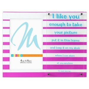 """Malden International Designs Sentiments Bright Phrases """"I Like You"""" Picture Frame, 4 by 6-Inch by..."""