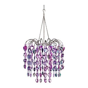 ZAPPOBZ HLLWF2 Waterfall Chandelier, Purple by ZAPPOBZ