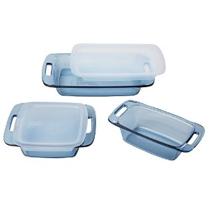 Pyrex 5 Piece Atlantic Bakeware Set, Blue by Pyrex