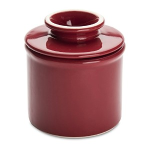 American Mug Pottery Butter Keeper/Butter Dish, Made in USA, Red by American Mug Pottery