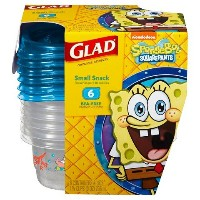 Glad Sponge Bob Rectangle Container 9oz. 6ct by Glad