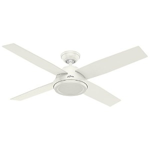 """Hunter Fan Company 59250 Contemporary Dempsey Fresh White Ceiling Fan With Remote, 52"""""""