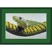 Snake View Counted Cross Stitch Kit By Orcraphics by Orcraphics Cross Stitch