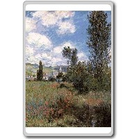 Monet Claude [1880] Path In The Ile Saint Martin classic art fridge magnet - ?????????