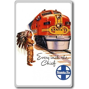 Every Inch The Chief Santa Fe Travel Train, Usa - Vintage Travel Fridge Magnet - ?????????