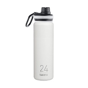 Takeya ThermoFlask Insulated Stainless Steel Water Bottle, 24 oz, Snow by Takeya
