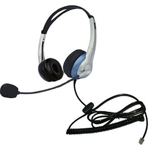Voistek Corded Call Center Telephone Headset RJ9 Headphone with Mic Noise Cancelling for Aastra...