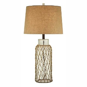 Crestview Collection Meyer Glass and Rope Table Lamp by Crestview Collection