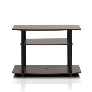 FURINNO Turn-N-Tube No Tools 3-Tier TV Stand, Espresso/Black by Furinno? [並行輸入品]