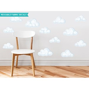Sunny Decals Modern Clouds Fabric Wall Decals (Set of 12) by Sunny Decals