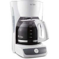 Mr. Coffee 12-Cup Switch Coffee Maker, White by Mr. Coffee